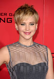 Jennifer Lawrence showed off her recent haircut at the premiere.
