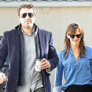 Ben Affleck and Jennifer Garner Walking in Brentwood