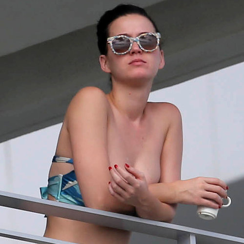 Katy Perry in a Bikini Top in Miami