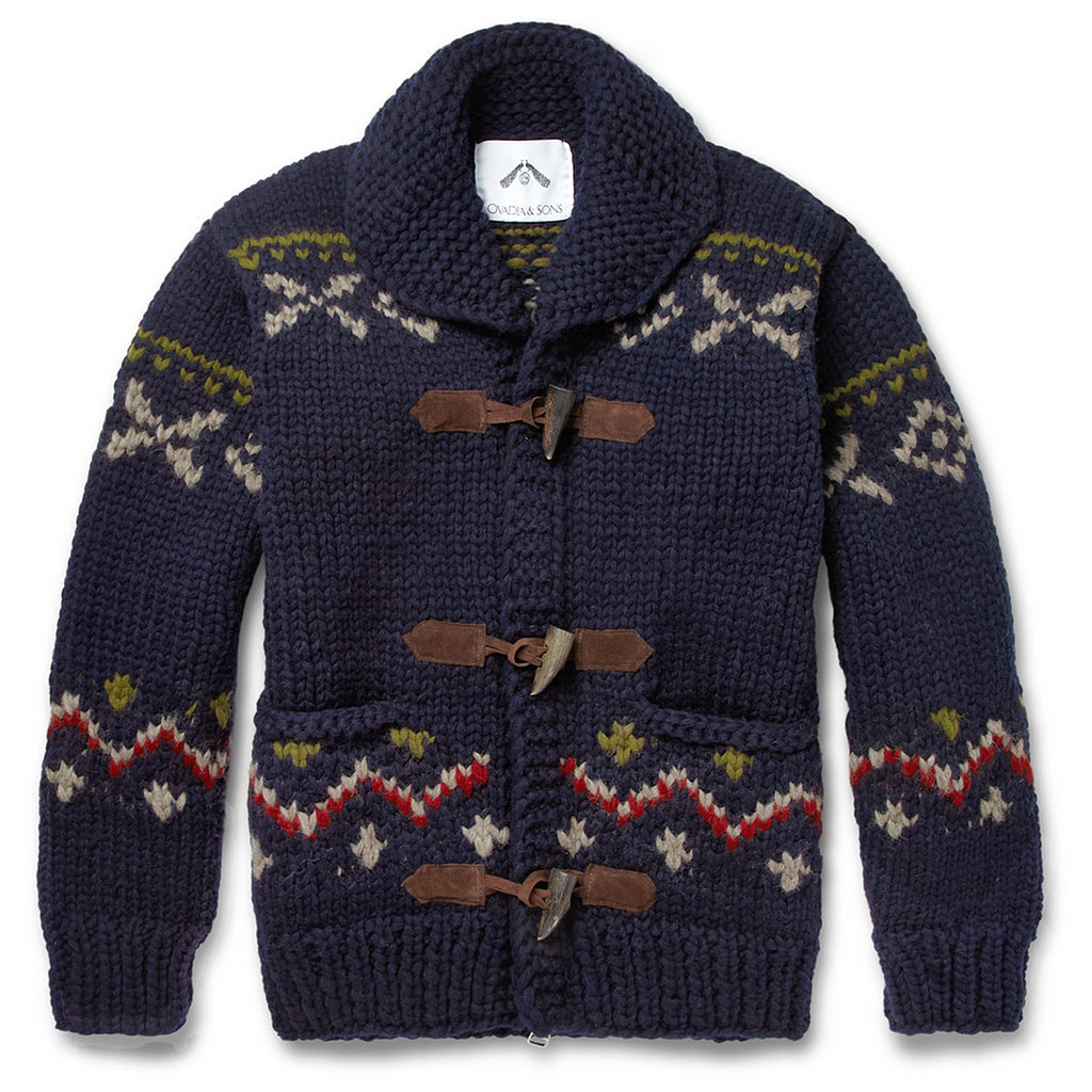 Who says all holiday sweaters have to be ugly? This Ovadia & Sons chunky sweater ($895) is so festive and cozy, you may be tempted to steal it when he's not looking.