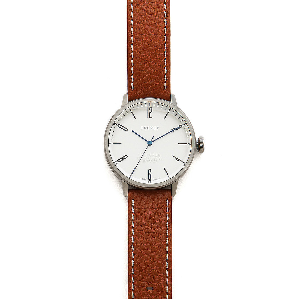This Tsovet watch ($200) will look just as good with a suit as with a pair of jeans.