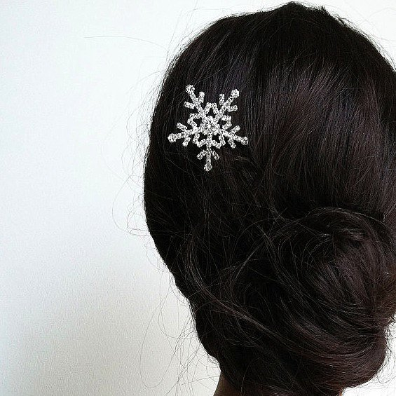 This snowflake hair clip ($22) will have you looking like you just came out of the snow . . . in style.