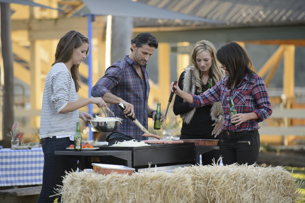 Ashlee, Penny and Dani helped Tim with the BBQ.