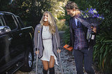 Ali spent the second half of the series on crutches. It's so romantic that Tim held everything for her.