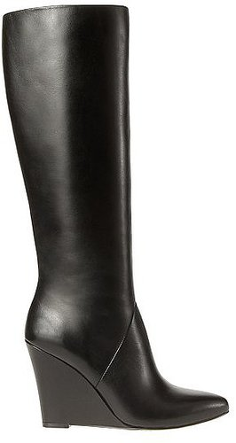 Claudia Tall Leather Wedge Boots