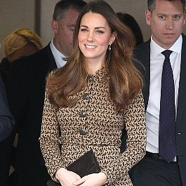 Kate Middleton Brown Coat Dress