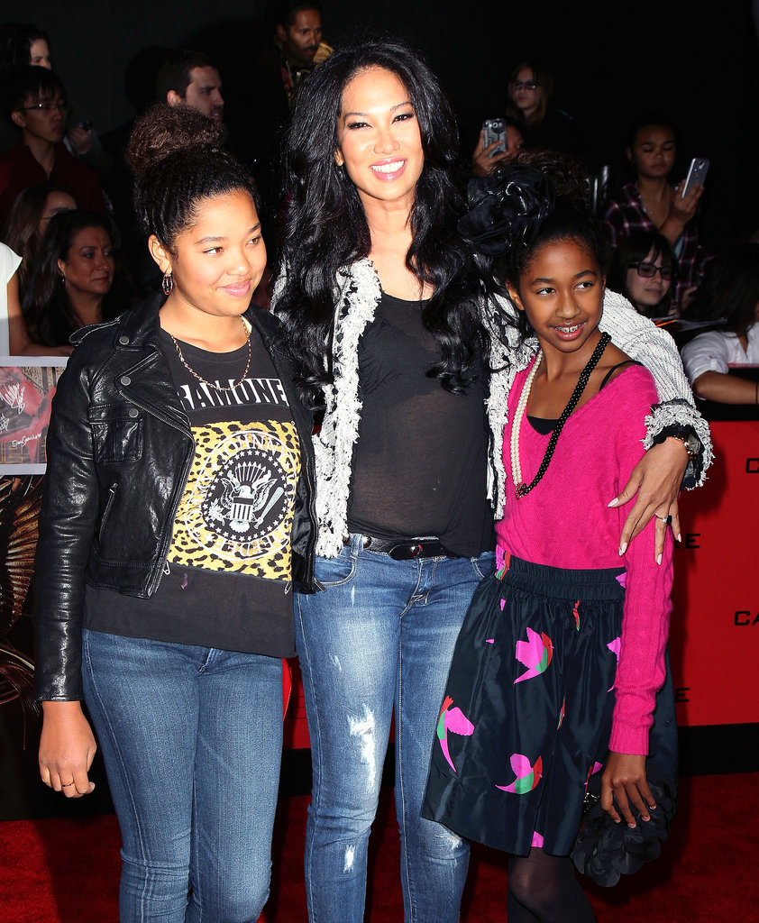 Kimora Lee Simmons made the premiere a family outing with her daughters, Ming and Aoki.