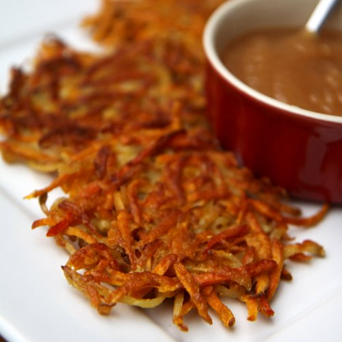 Healthy Holiday Recipe: Sweet Potato and Carrot Latkes
