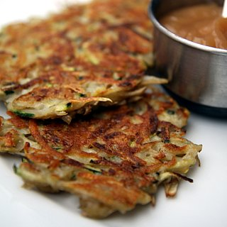 Healthy Dinner Idea: Zucchini Latkes