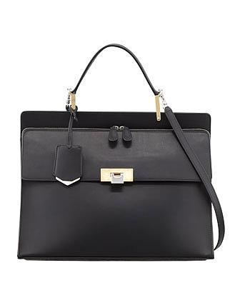Le Dix Cartable Zip Satchel Bag, Black