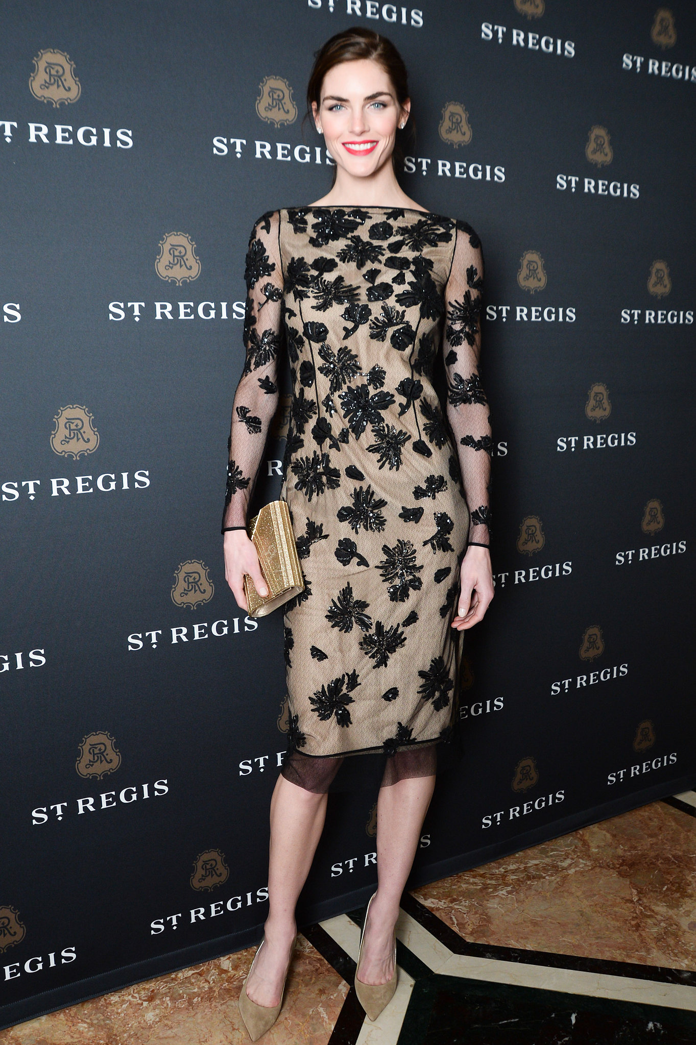 Hilary Rhoda at the St. Regis's debut of the new King Cole Bar and Salon.