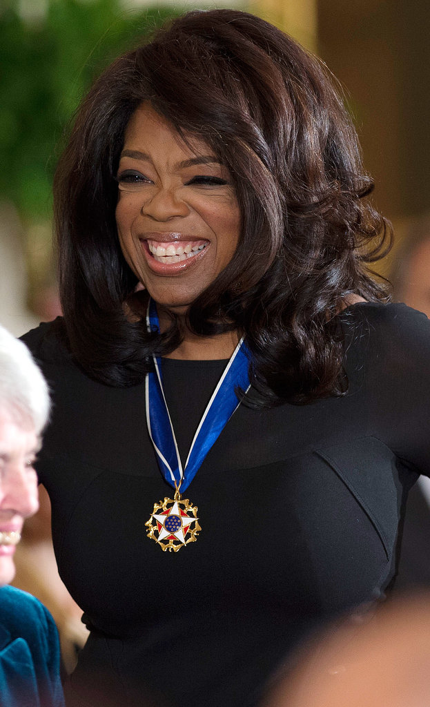 Oprah Winfrey was all smiles at the event.