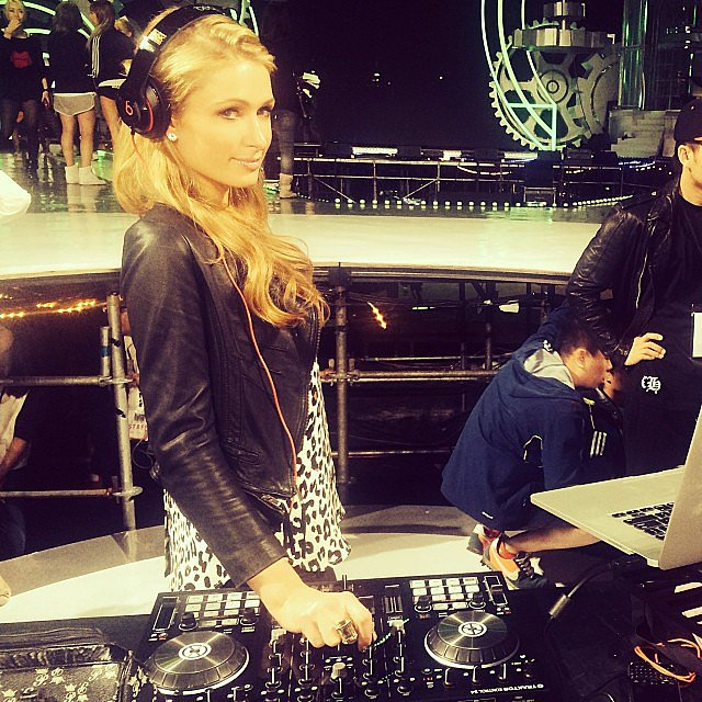Paris Hilton geared up for her DJing gig in Hong Kong. Source: Instagram user parishilton