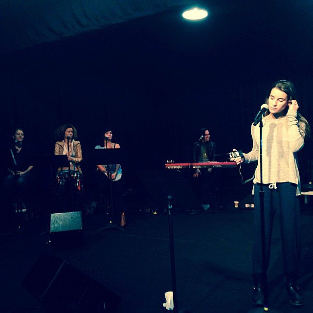 Lea Michele shared a photo from her rehearsals. Source: Instagram user msleamichele