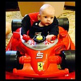 Little Axl Duhamel may be the cutest race car driver we've ever seen! Source: Instagram user joshduhamel