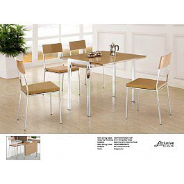 Exclusive Furniture Bistro Cappucino Extending Dining Table with 4 Chairs