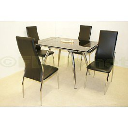 Heartlands Furniture Magna Extending Dining Table with 4 Lazio Chairs