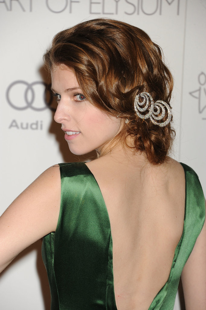 We have an inkling that Anna Kendrick's hair jewels may have started life as earrings.