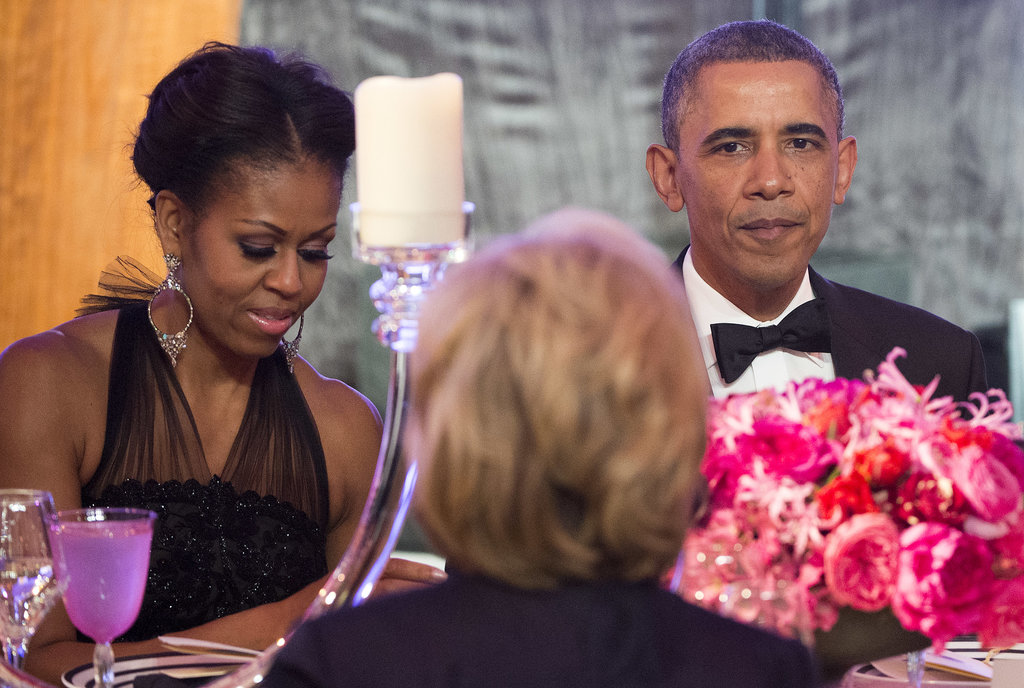 President Barack Obama and First Lady Michelle Obama were all dressed up at a dinner honoring the Presidential Medal of Freedom recipients.