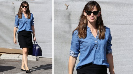 Copy Jennifer Garner's Easy Outfit For Work