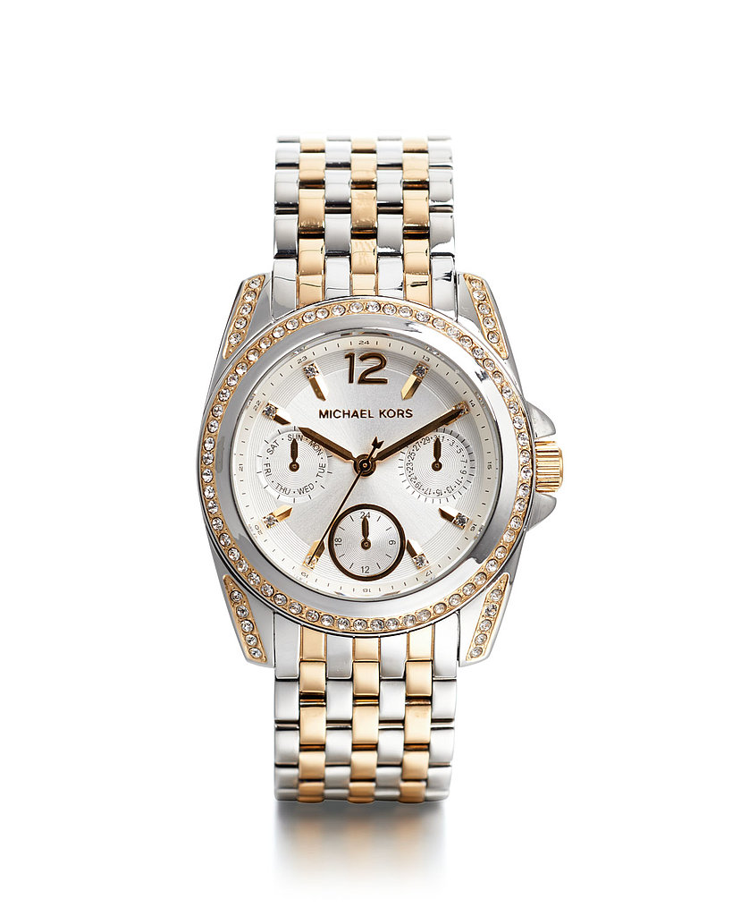 Michael Kors Mid-Size Two-Tone Stainless Steel Preseley Glitz Watch ($295)