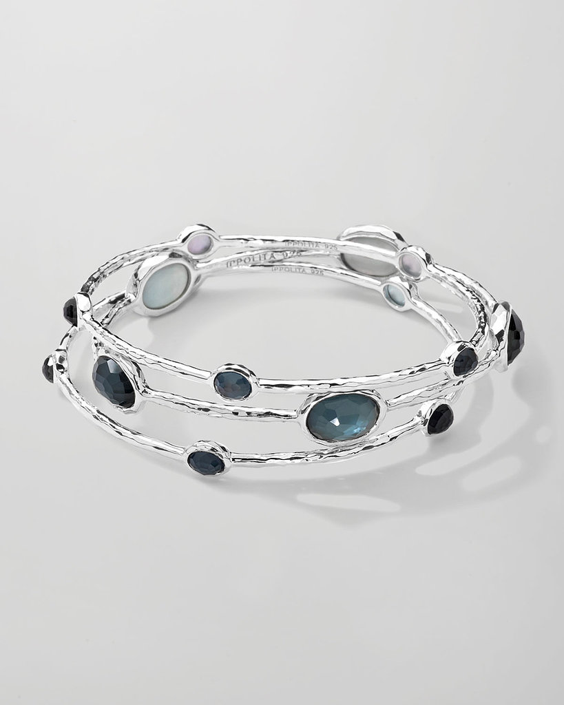 Ippolita Sterling Silver Bangle Set in Clear Quartz ($795)
