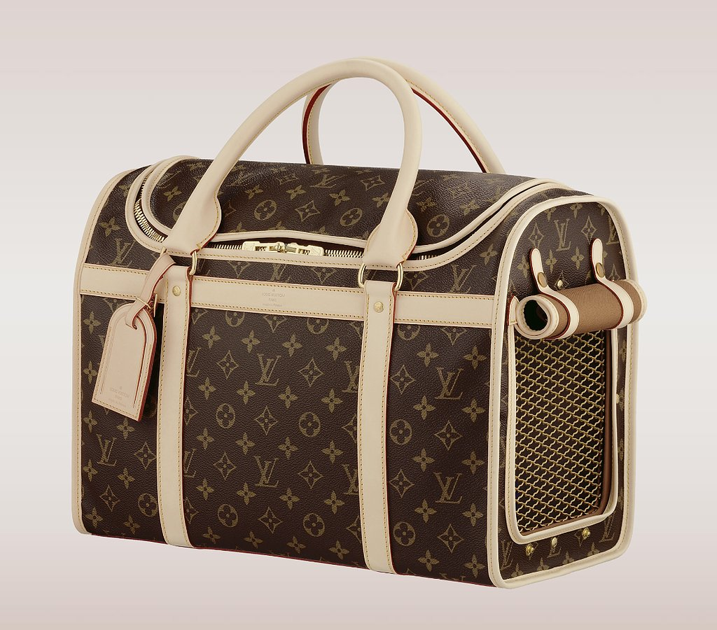 For the jet-set pet, there's no more stylish way to travel than inside the first-class cabin of this Louis Vuitton monogram dog carrier ($2,530). Still not impressed? Get it personalized with stamped initials.