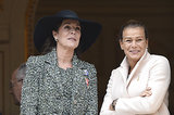 Princess Caroline and Princess Stephanie enjoyed the Monaco national day parade.