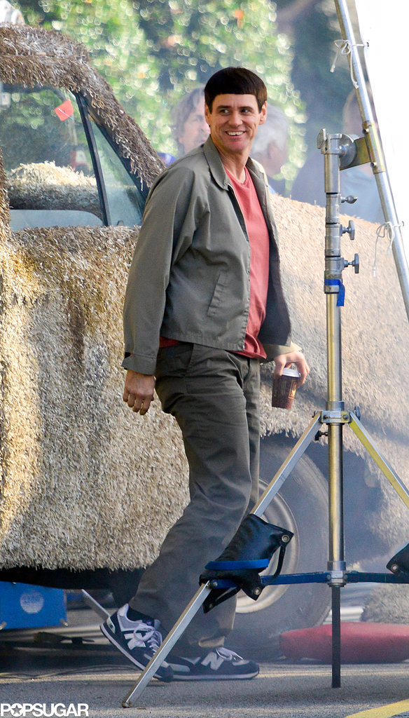 Jim Carrey hopped back into the Mutt Cutts van on the Atlanta set of Dumb and Dumber To on Tuesday.