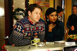 "Mindy (Mindy Kaling) and Morgan (Ike Barinholtz) in the holiday-themed episode ""Christmas Party Sex Trap,"" airing Dec. 3."