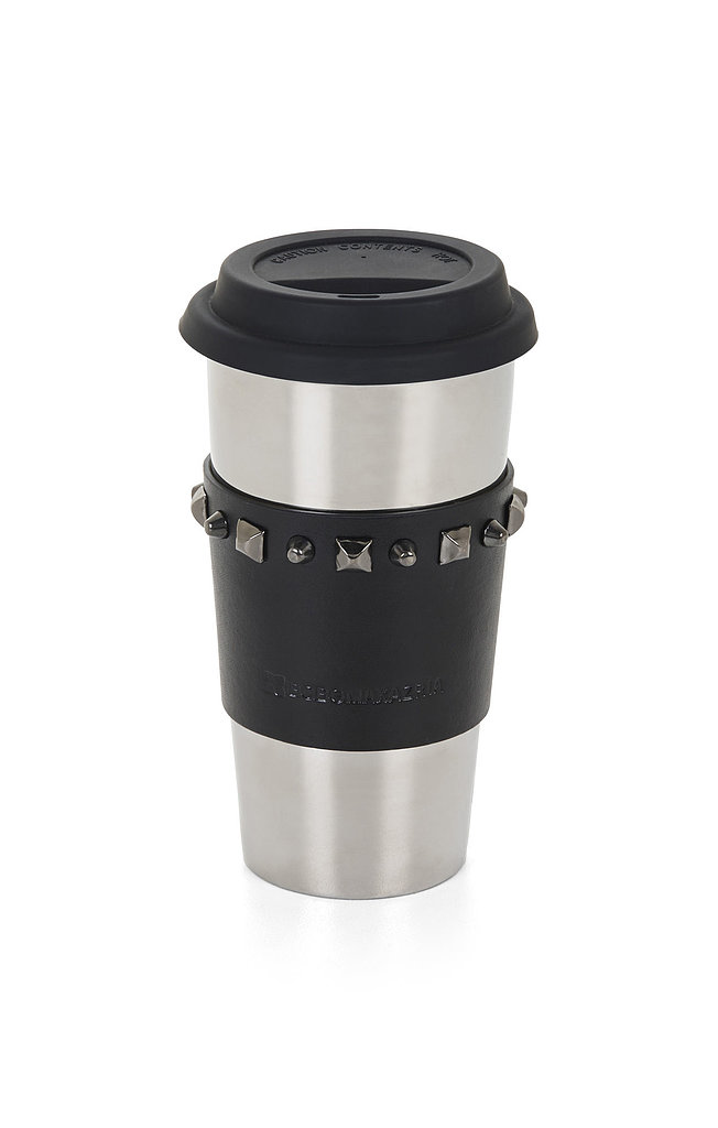 "BCBG Max Azria Studded-Sleeve Ceramic Travel Mug ($68) ""Dress up even your morning coffee."""