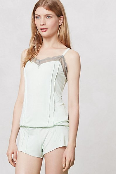 Anthropologie's Lace-Edged Knit Romper ($45) is simultaneously sweet and sexy.