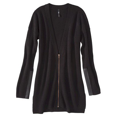 The zip down the front of this Target Labworks Cardigan With Faux Leather ($40) gives it a totally sophisticated edge.