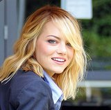 Emma Stone proved that beachy waves are a seasonless classic.