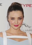 If you like a pink lipstick, then why not create a whole makeup palette in the rosy hue like Miranda Kerr did?