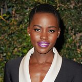 Dress up a black-and-white number with a metallic purple lipstick, like Lupita Nyong'o did.