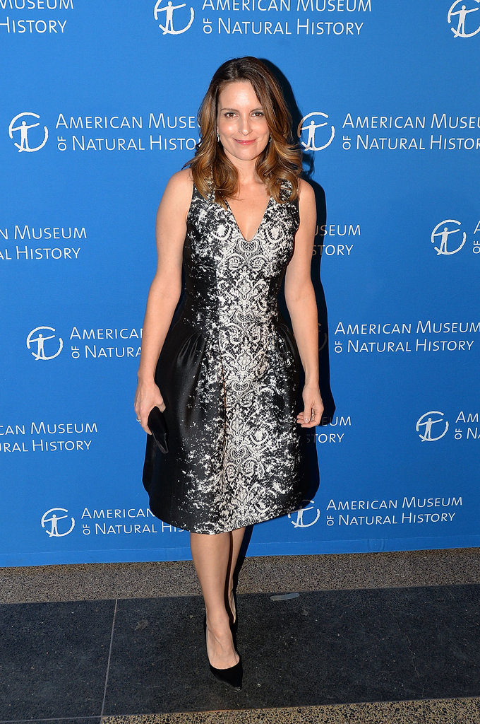 Tina Fey posed for photos at the Museum of Natural History Gala.