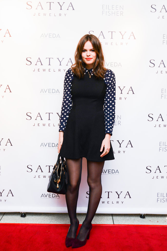 Atlanta de Cadenet at the Satya jewelry store opening.