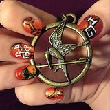 Speaking of Hunger Games, this movie-inspired nail art was a winner on Pinterest. Perhaps our followers are big Katniss fans?