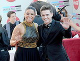Jordin Sparks and Jesse McCartney posed together.