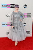 Kelly Osbourne dazzled in silver.