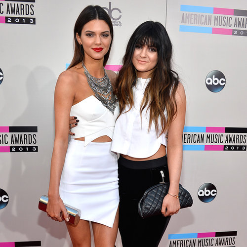 Kendall and Kylie Jenner at American Music Awards 2013