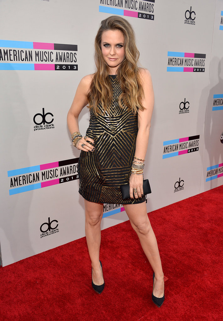 Alicia Silverstone stepped out for the big night.