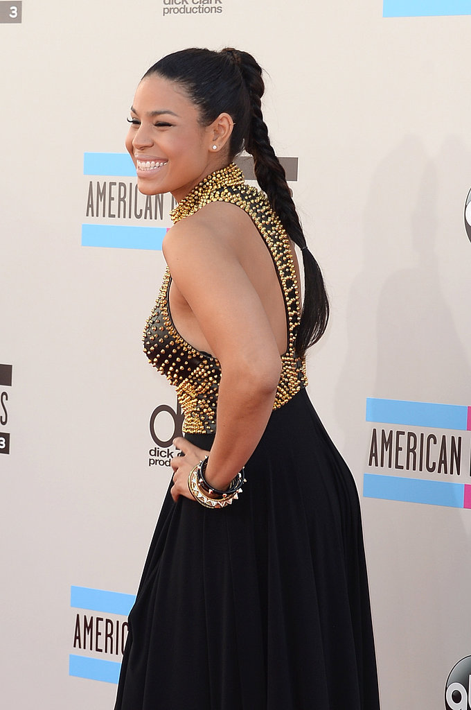 Jordin Sparks laughed for the cameras.