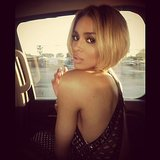 Ciara snapped a picture in her car while she was en route. Source: Instagram user Ciara