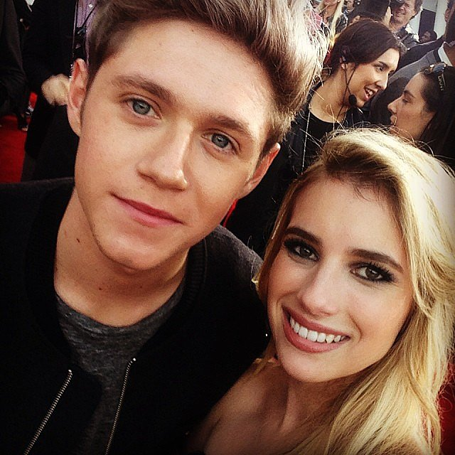 Emma Roberts posed with One Direction's Niall Horan at the AMAs. Source: Instagram user emmaroberts6