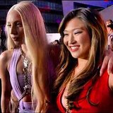 Lady Gaga and Jenna Ushkowitz posed together on the red carpet. Source: Instagram user jennaushkowitz