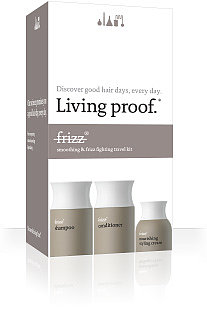 """Never suffer from dreaded """"travel hair"""" every again with this Living Proof No Frizz Travel Kit ($29) that has TSA-friendly versions of its  hair care essentials. The fact that this hair care line comes endorsed by Jennifer Aniston will also guarantee that you'll always have movie-star hair. — Maria Mercedes Lara, associate editor"""