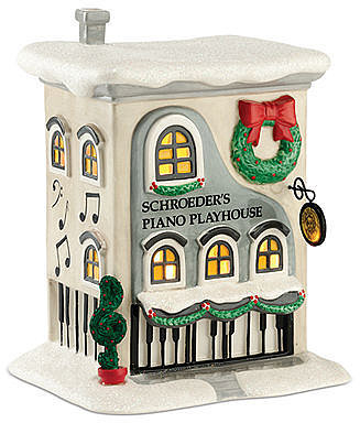Department 56 Collectible Figurine, Peanuts Village Schroeder's Piano Playhouse