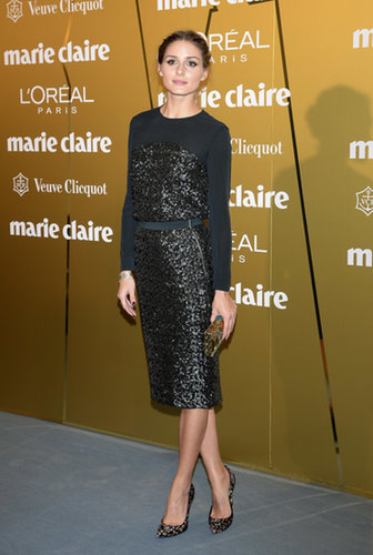 For the Marie Claire Prix de la Moda Awards in Spain, Olivia showed off a sleek long-sleeved cocktail dress.
